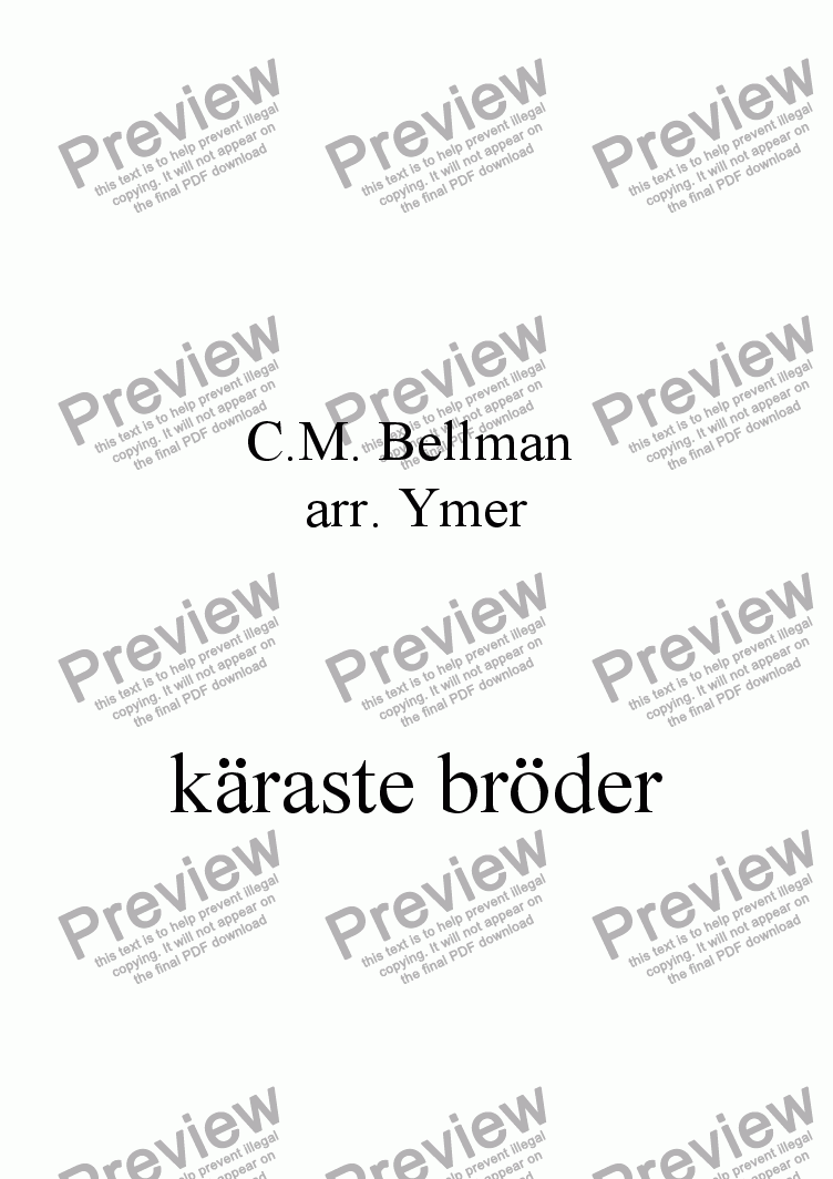 page one of käraste bröder