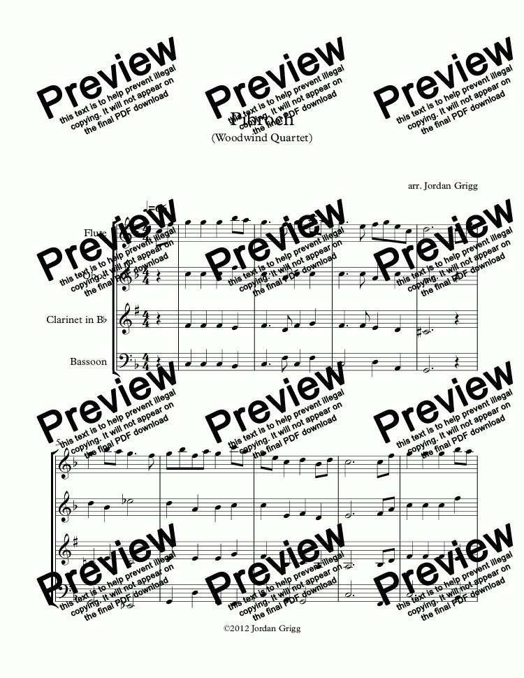 page one of Pibroch (Woodwind Quartet)