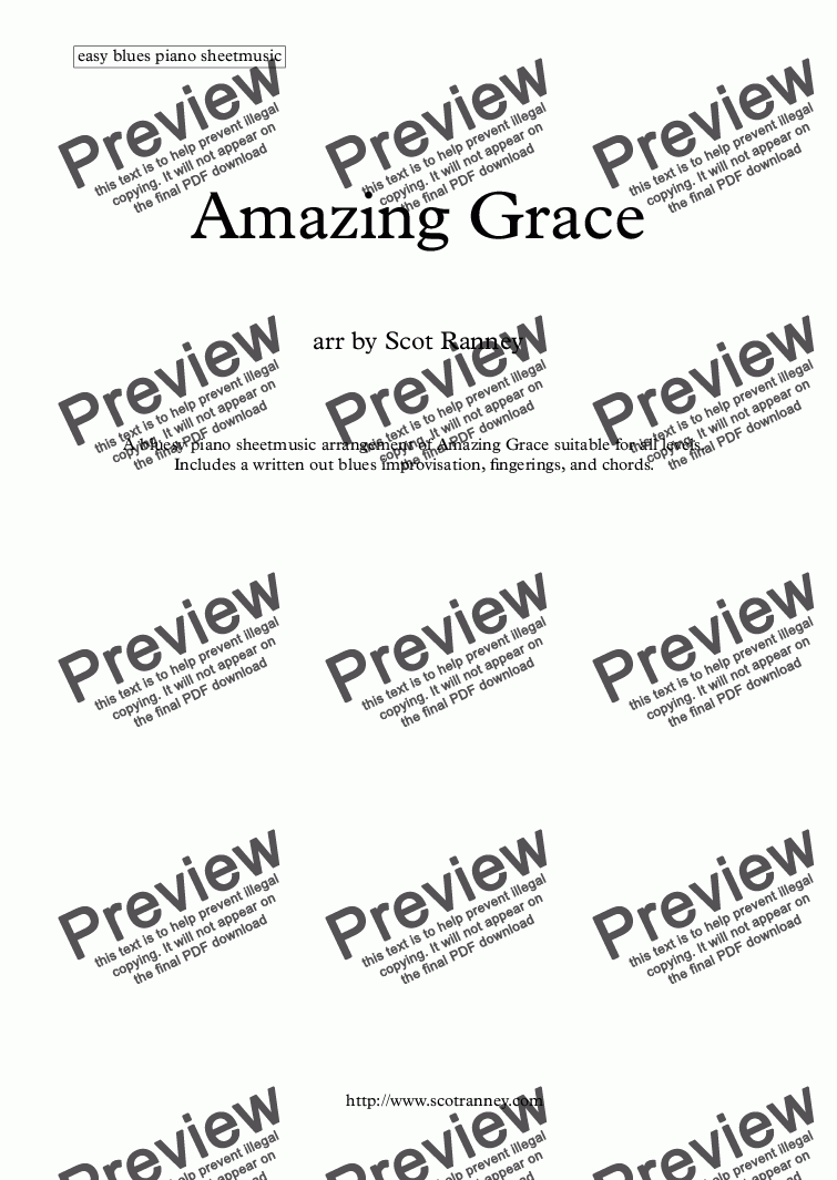 Amazing grace easy blues piano download sheet music pdf which method of viewing music should i use hexwebz Image collections
