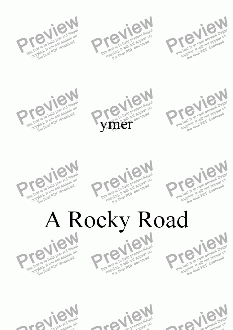 page one of A Rocky Road