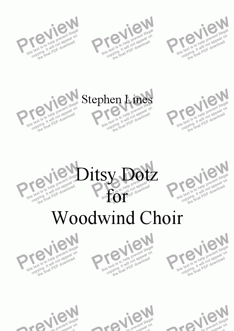 page one of Woodwind Choir: Ditsy Dotz