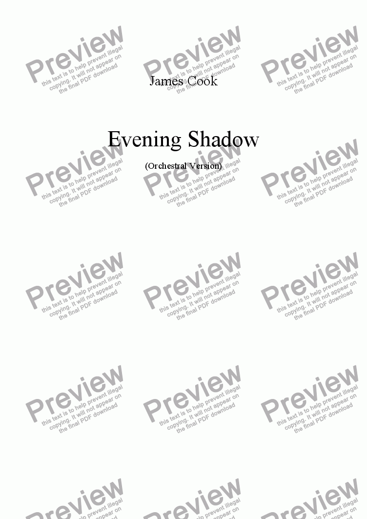 page one of Evening Shadow