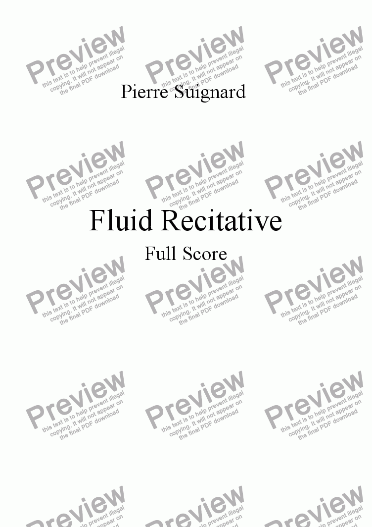 page one of Fluid Recitative