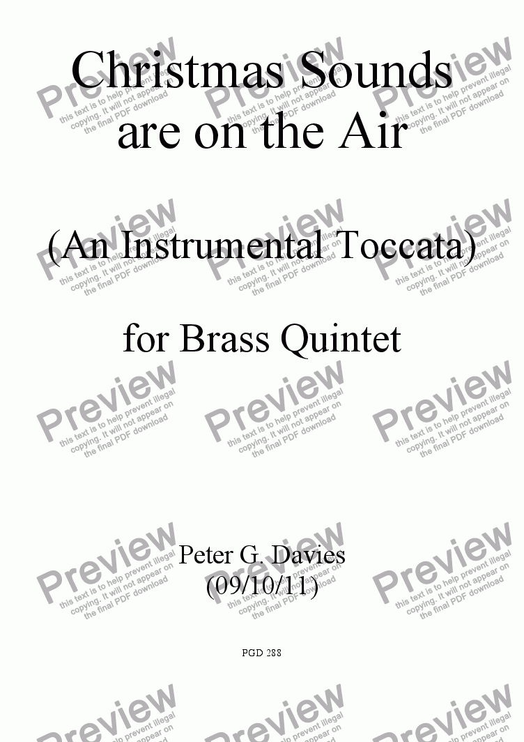 page one of Christmas Sounds Are On The Air for Brass Quintet