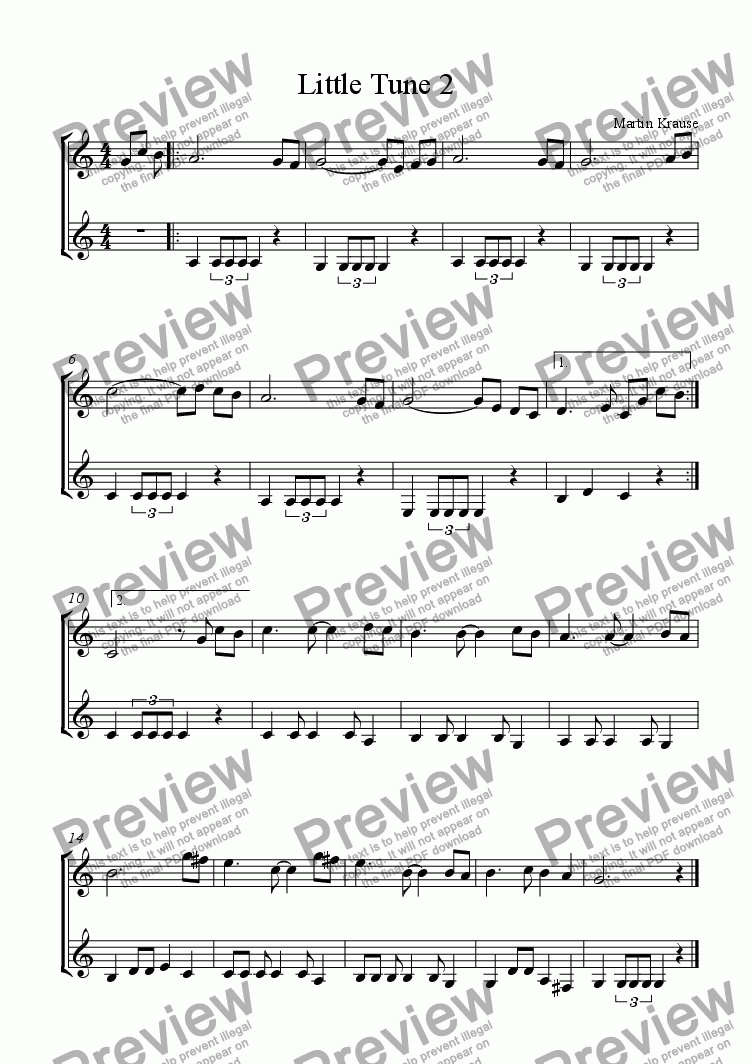 page one of Little Tune 2