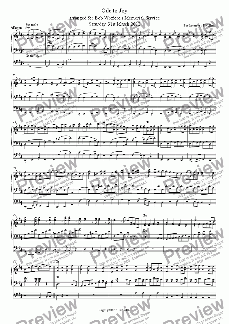 page one of Ode to JoyASALTTEXT