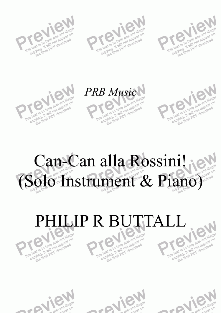 page one of Can-Can alla Rossini! (Solo instrument & Piano)
