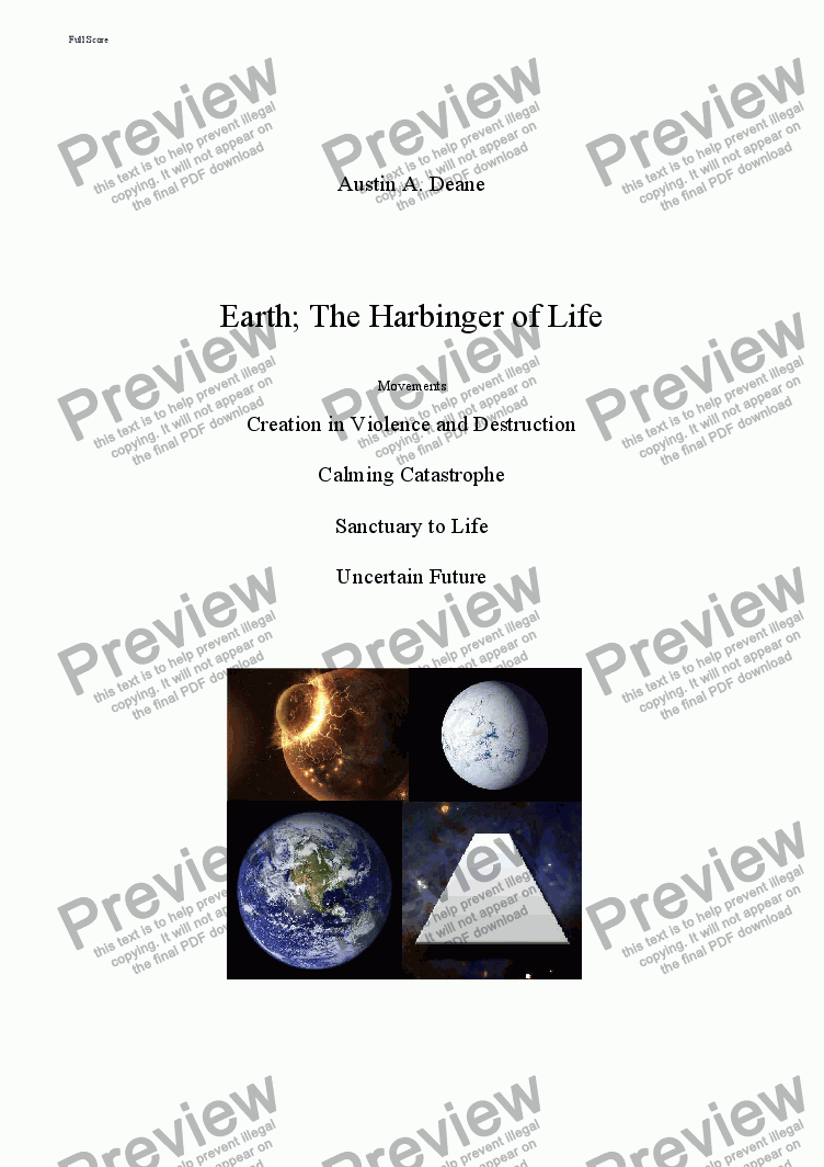 page one of Earth; The Harbinger of LifeASALTTEXT