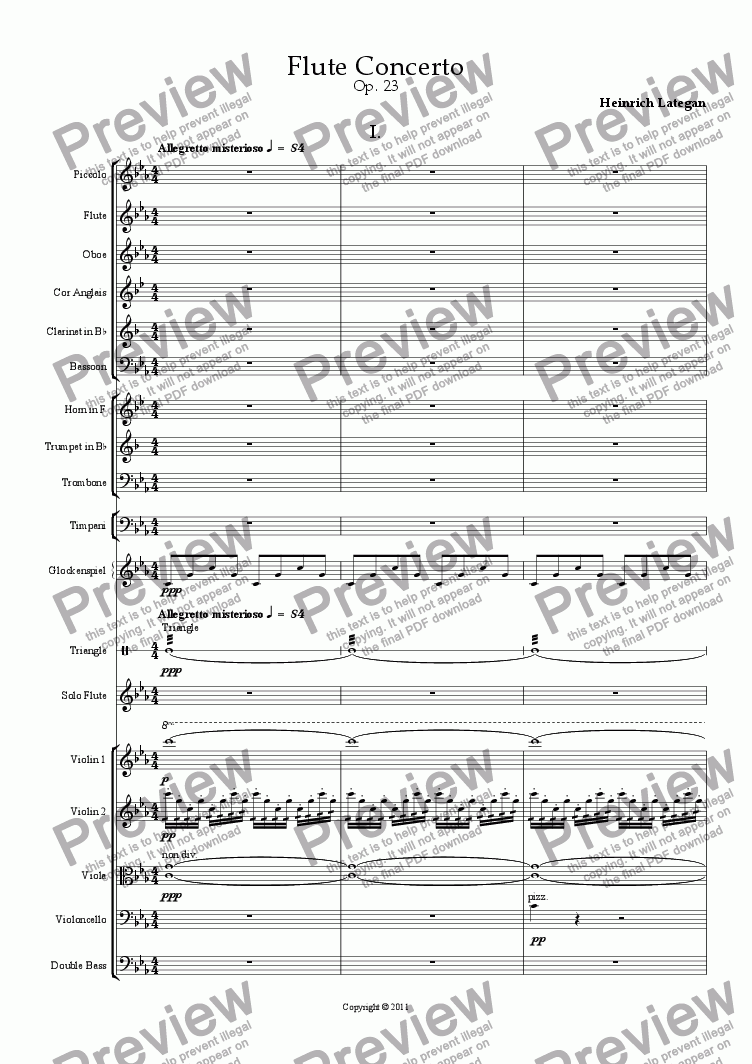 page one of Flute ConcertoASALTTEXT
