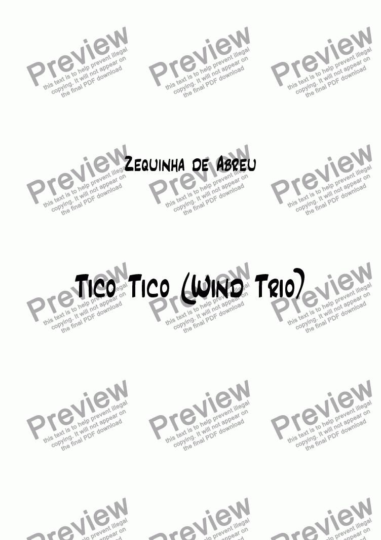page one of Tico Tico (Wind Trio)ASALTTEXT