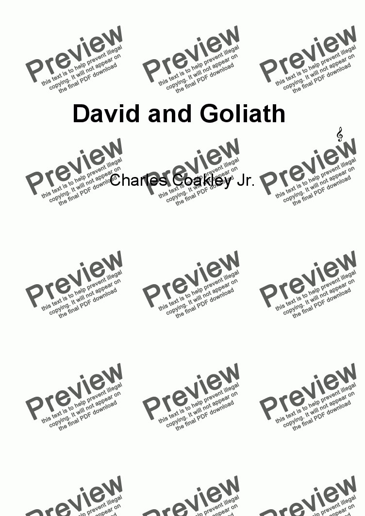 page one of David and Goliath