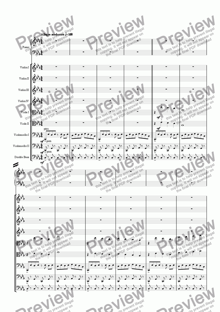 page one of Symphony No. 3 - 1. Allegro moderato
