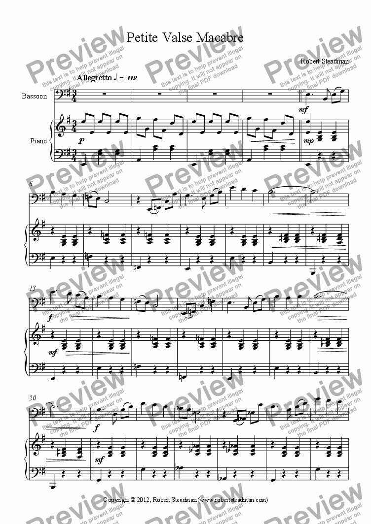 page one of Petite Valse MacabreASALTTEXT