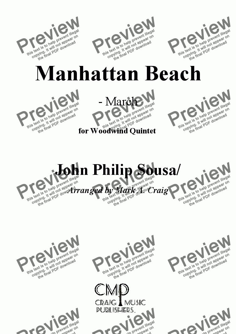 page one of Sousa: Manhattan Beach  - MarchASALTTEXT