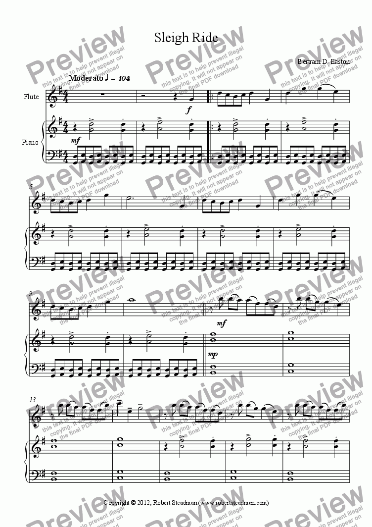 page one of Sleigh Ride