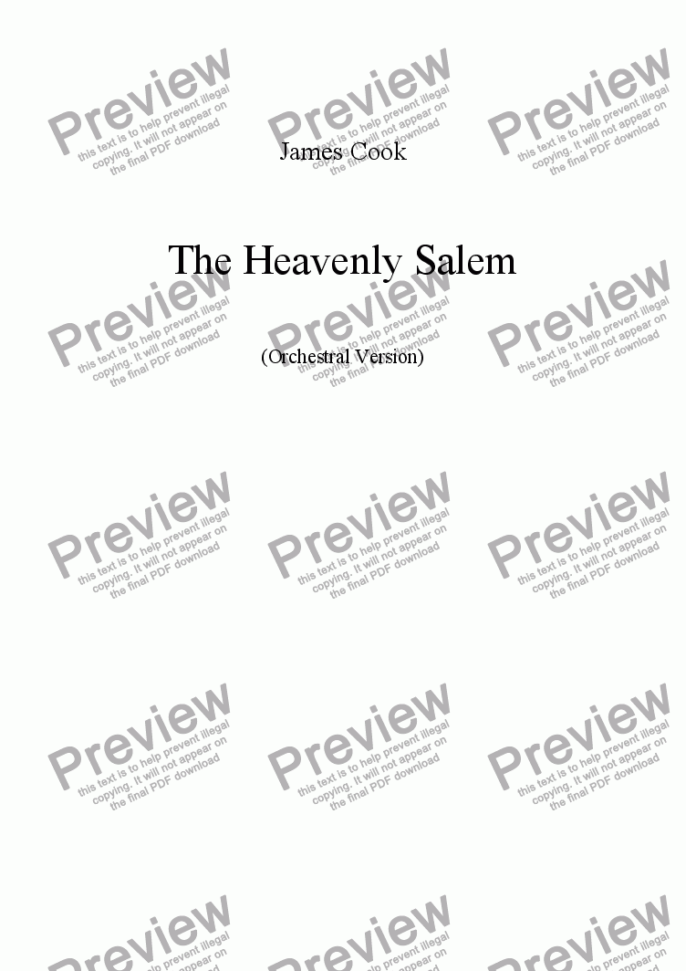 page one of The Heavenly Salem