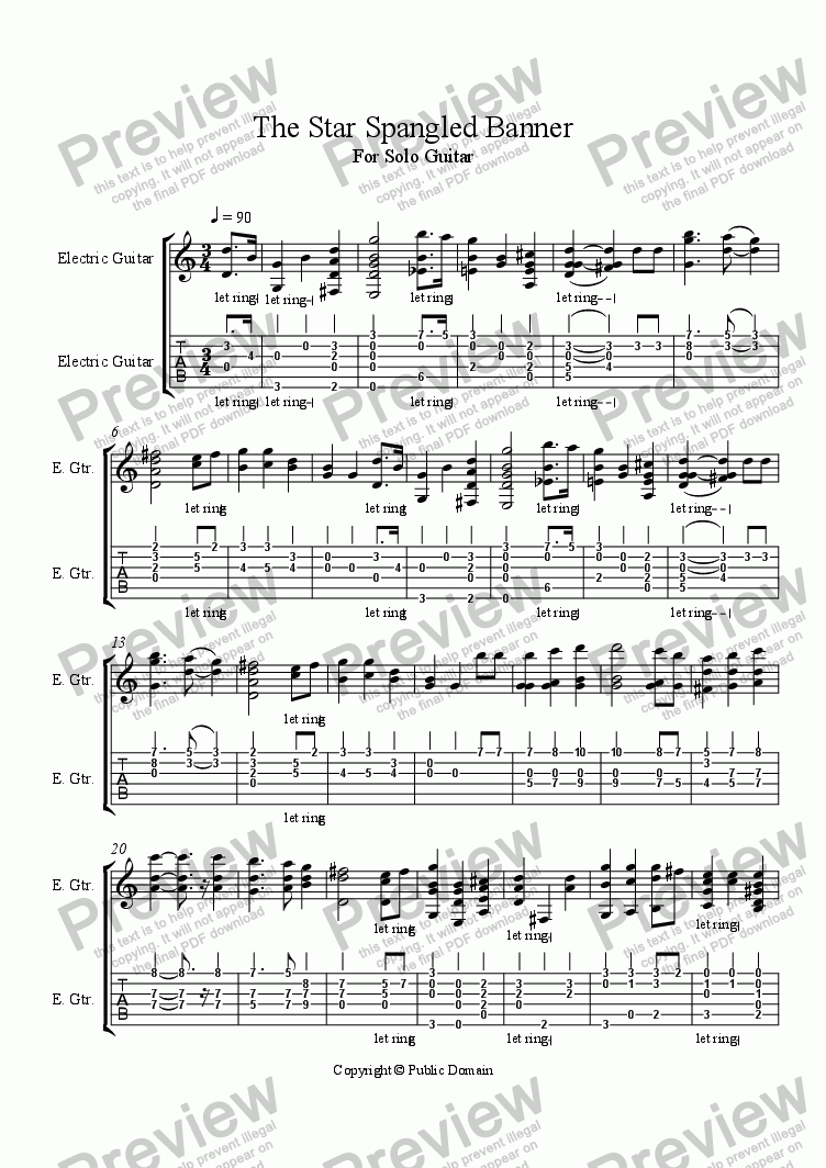 The Star Spangled Banner Download Sheet Music Pdf File