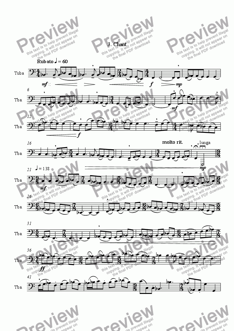 page one of Divertissement For TubaASALTTEXT