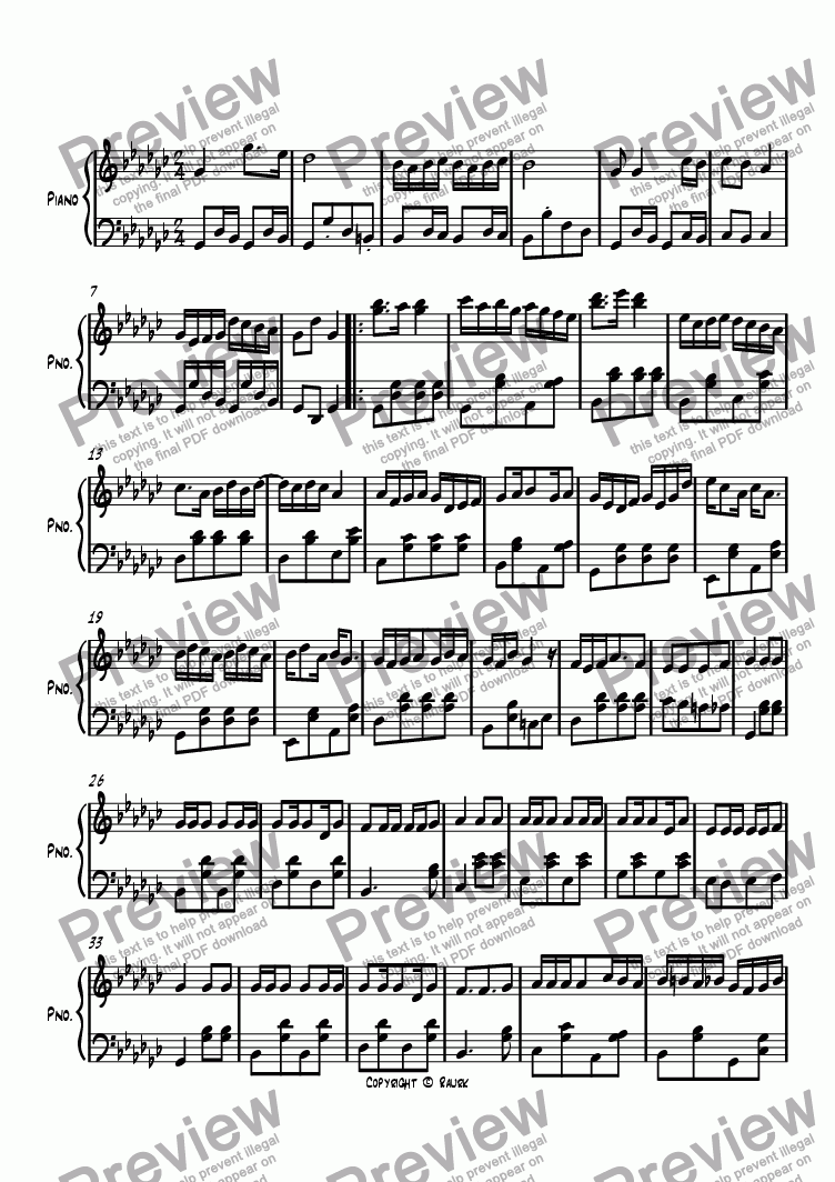 page one of Ragtime #100 in G Flat Major