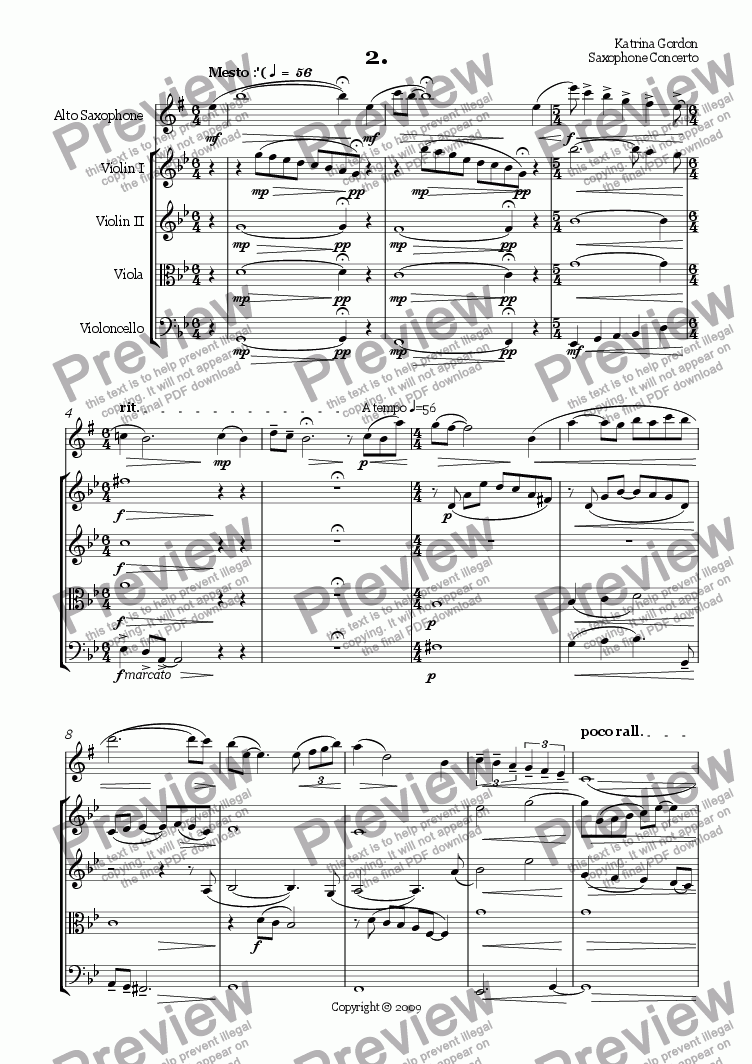 page one of Concerto for alto saxophone (mvt 2)ASALTTEXT