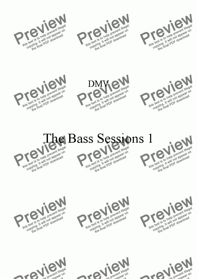 page one of The Bass Sessions 1