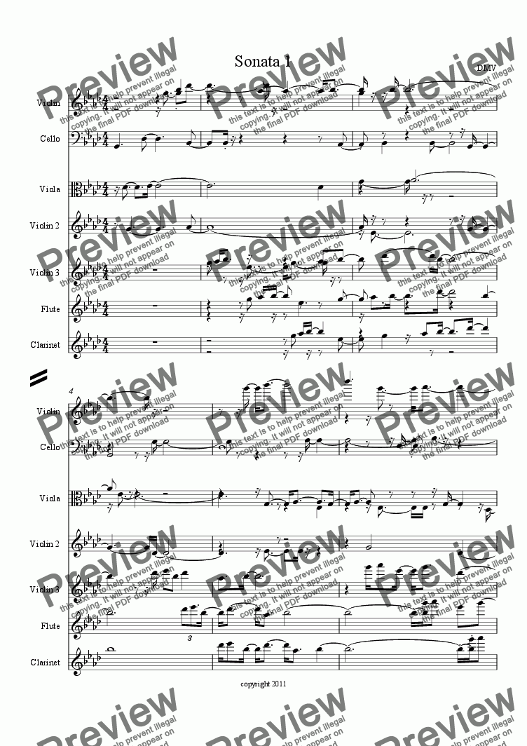 page one of Sonata 1