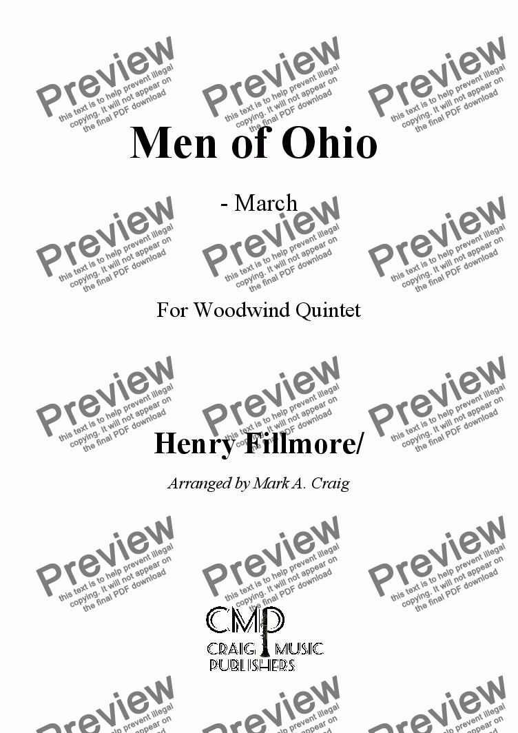 page one of Fillmore: Men of Ohio - MarchASALTTEXT