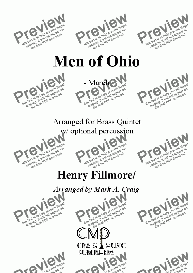 page one of Fillmore: Men of Ohio MarchASALTTEXT