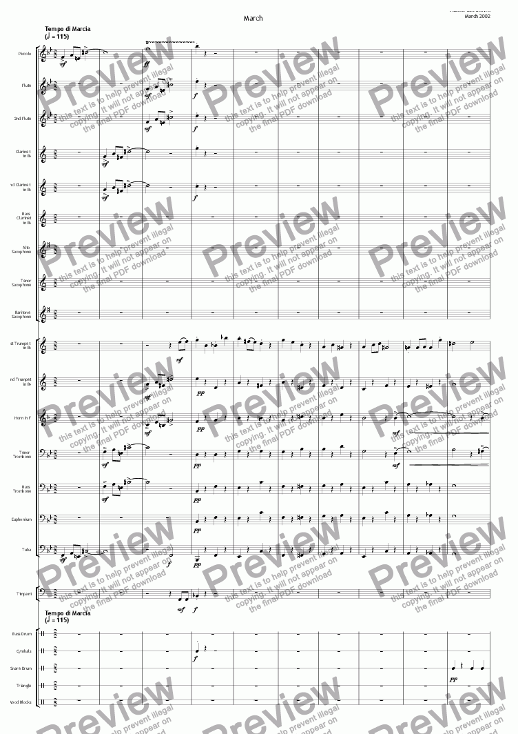 page one of Concert Band Suite - March