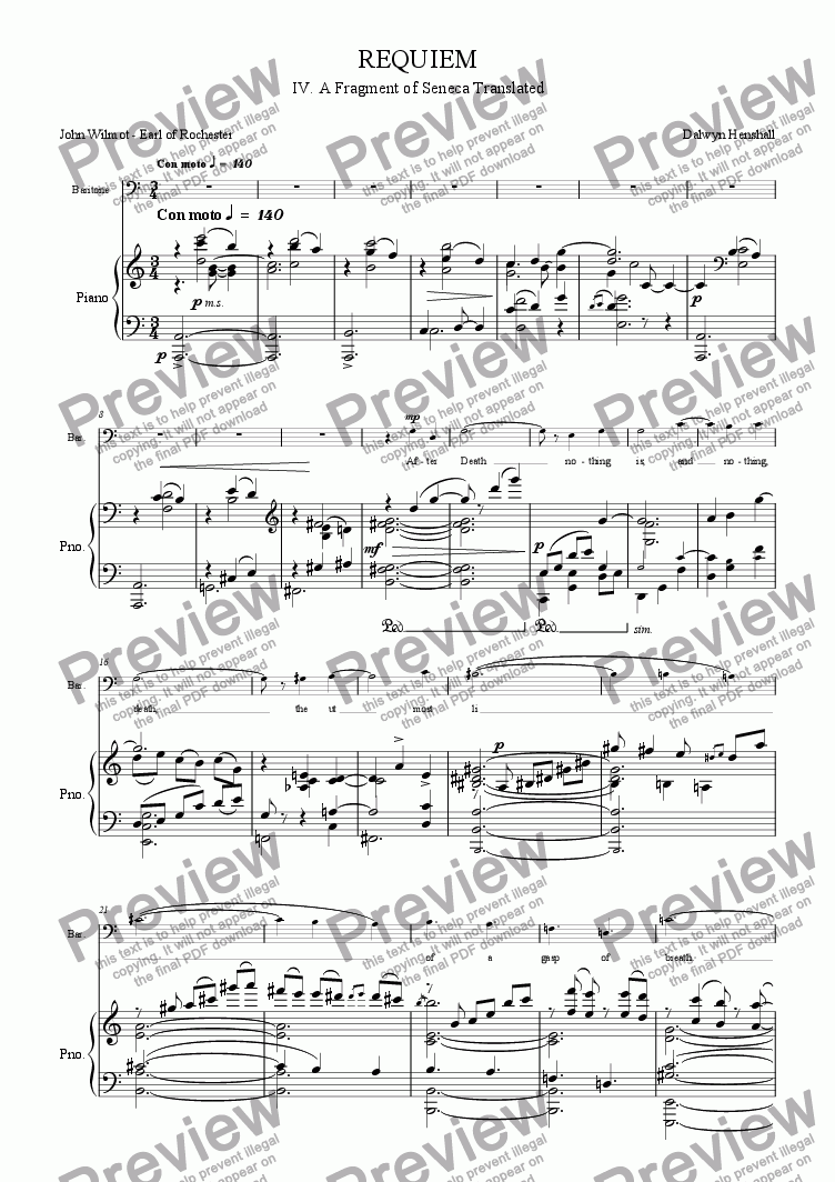 page one of REQUIEM - IV. After Death (Rochester)