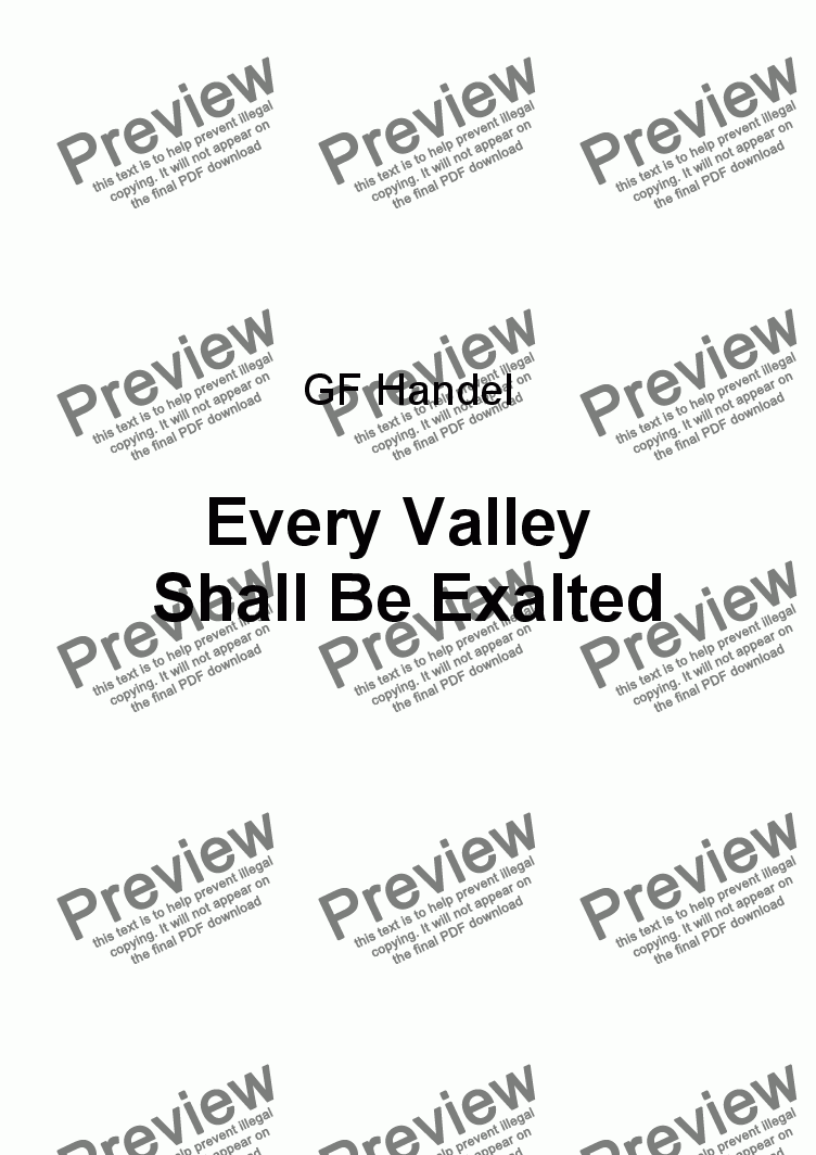 page one of Every Valley Shall Be Exalted