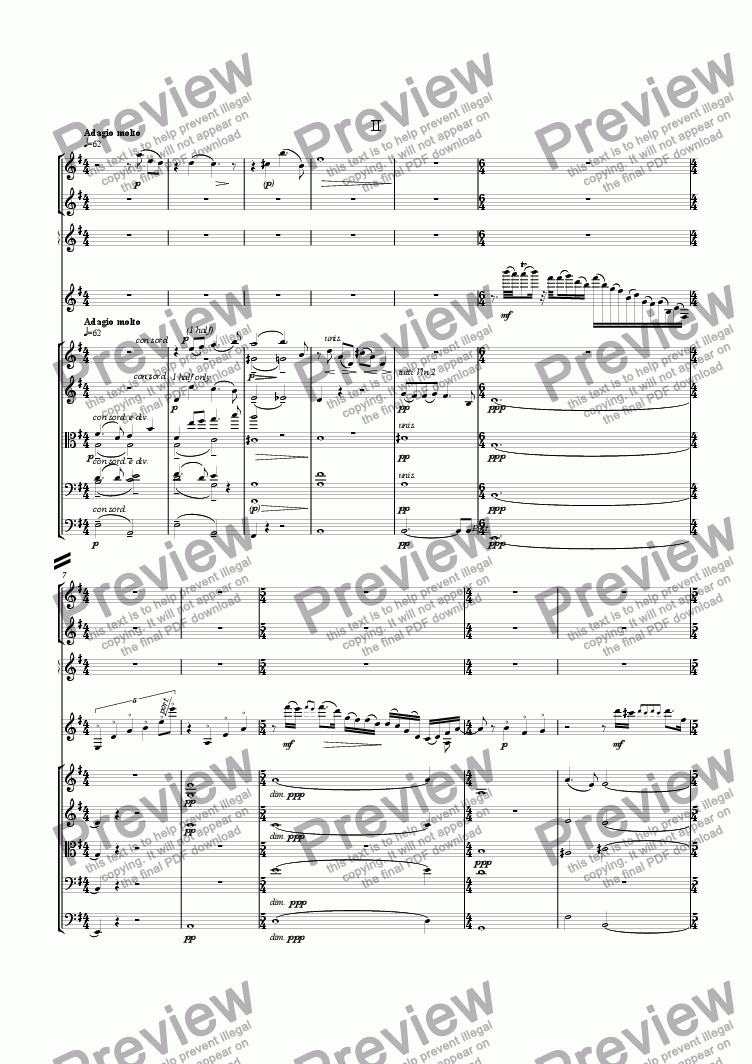 page one of Guitar Concerto: II [+mp3]