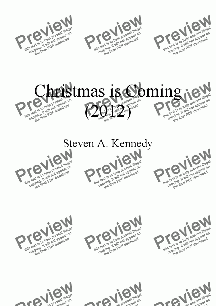 page one of Christmas is Coming