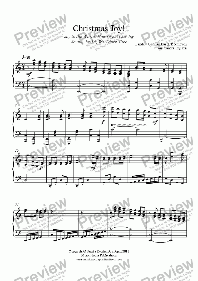 page one of Christmas Joy! (piano solo)