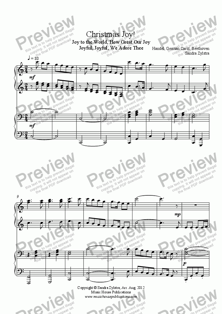page one of Christmas Joy! (piano duet)