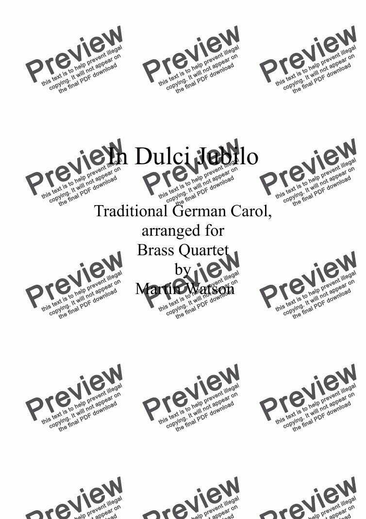 canticorum jubilo pdf