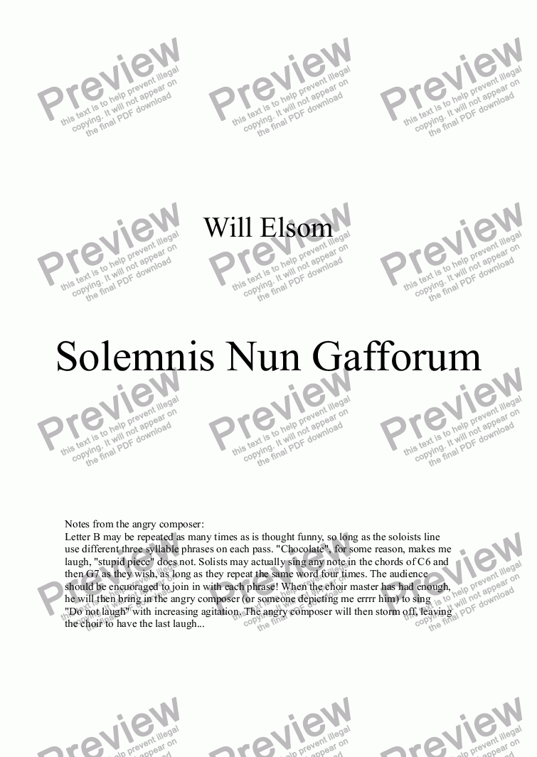 page one of Solemnis Nun GafforumASALTTEXT