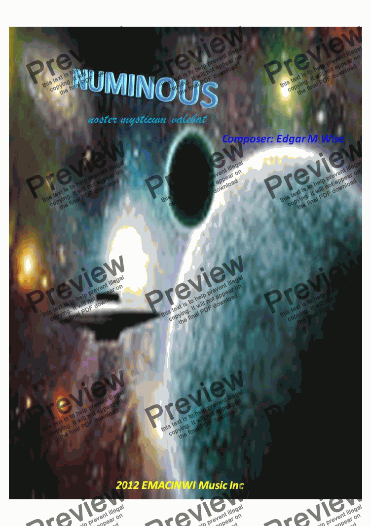 page one of Numinous