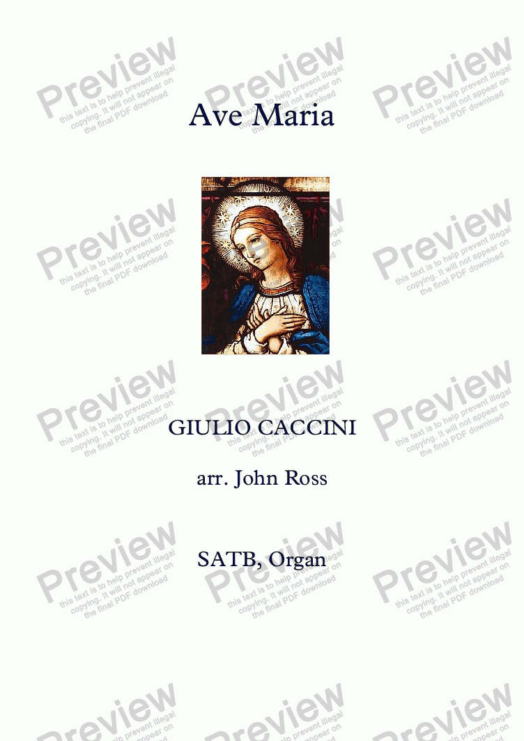 page one of Ave Maria (SATB, Organ)