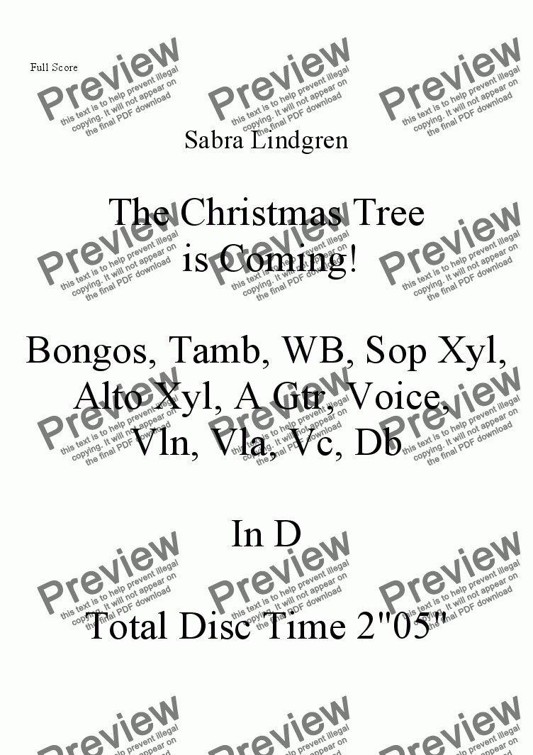 page one of The Christmas Tree is Coming!