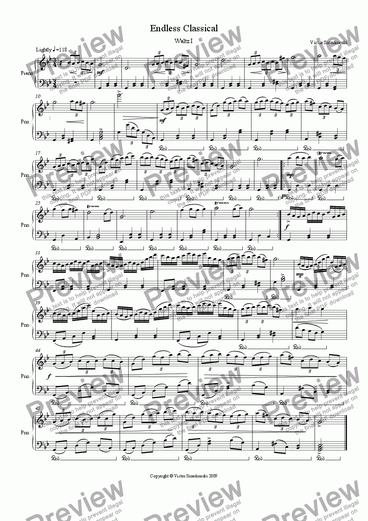page one of Waltz I