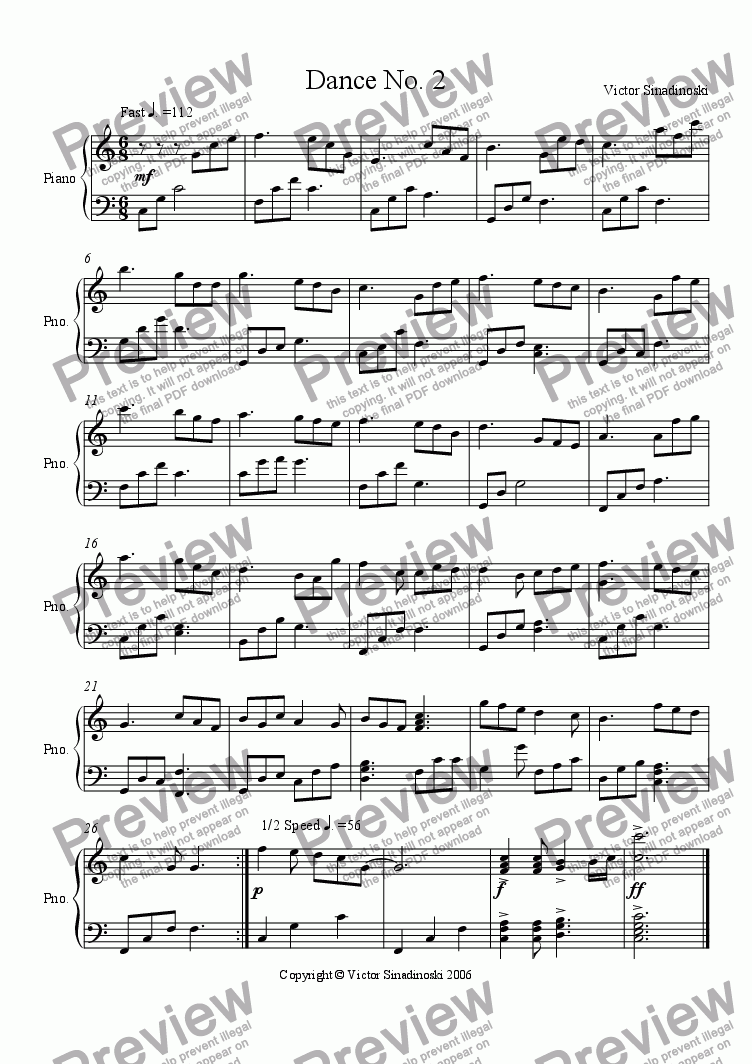 page one of Dance No. 2
