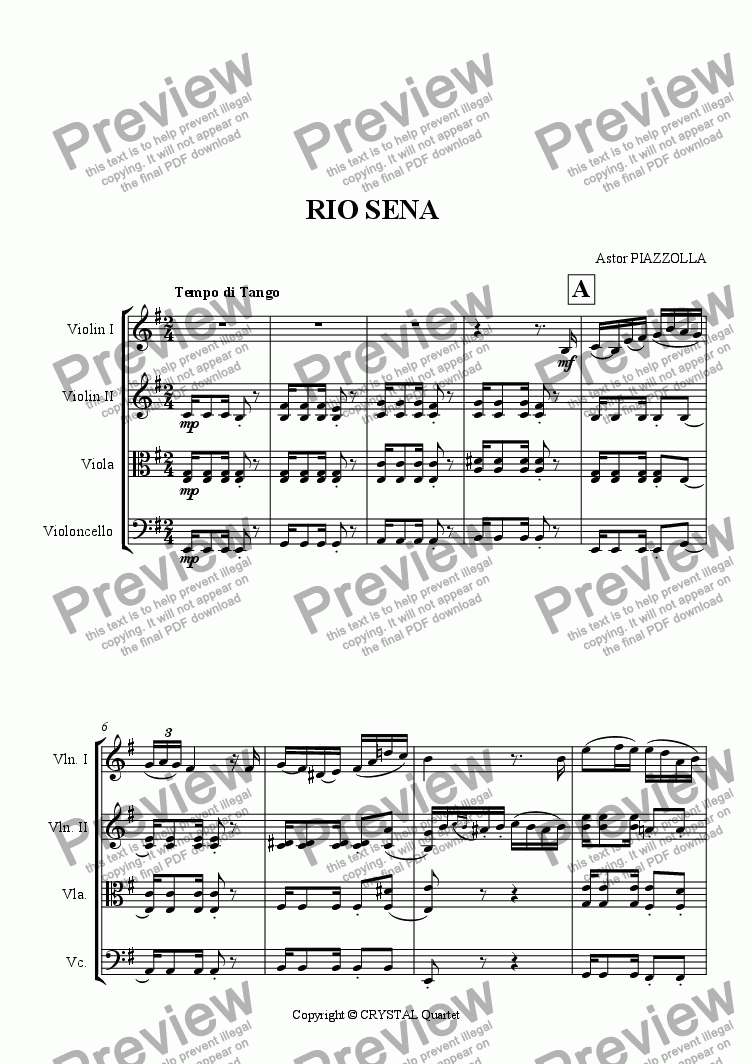 page one of RIO SENA
