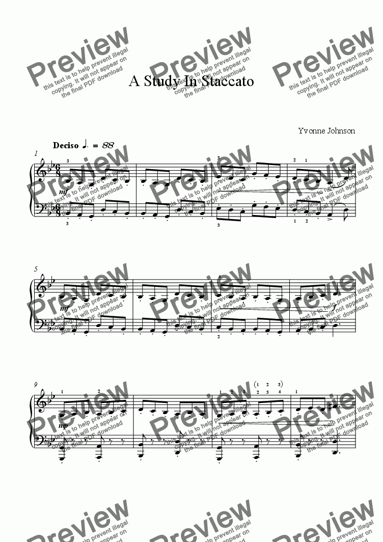 page one of A Study In Staccato