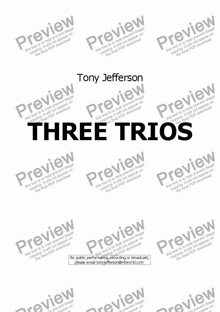 page one of Three Trios