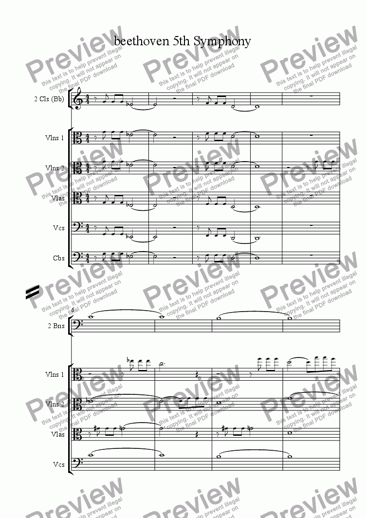 5Th Symphony beethoven 5th symphony transcriptionalex lugo for orchestraludwing  van beethoven - sheet music pdf file to download