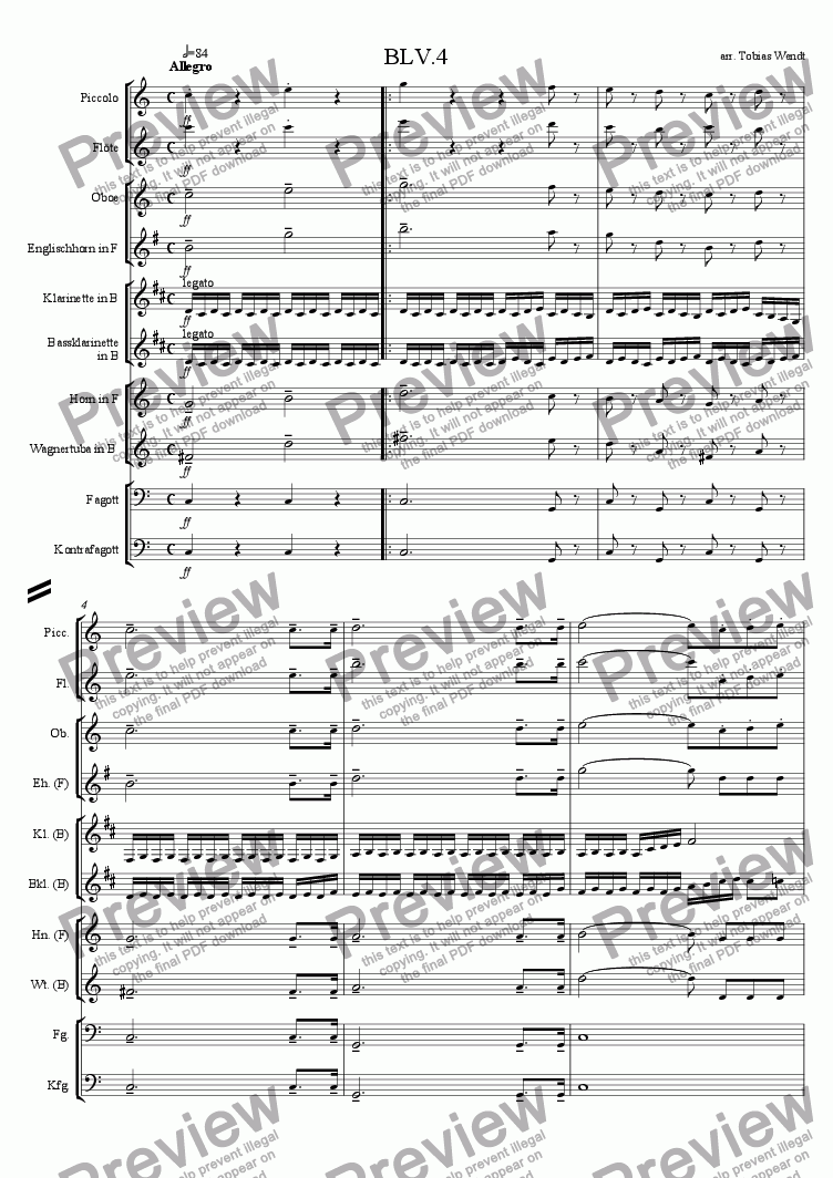 page one of Beethoven 5th Symphony-4