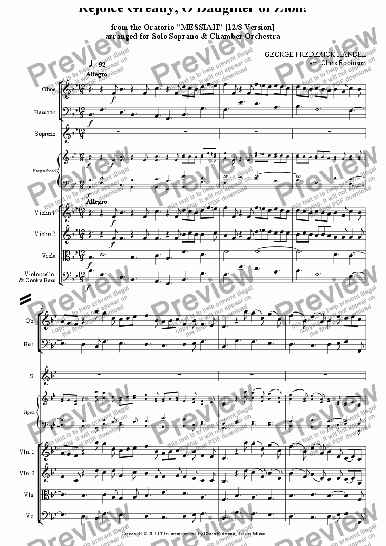 Handel Messiah Score Pdf
