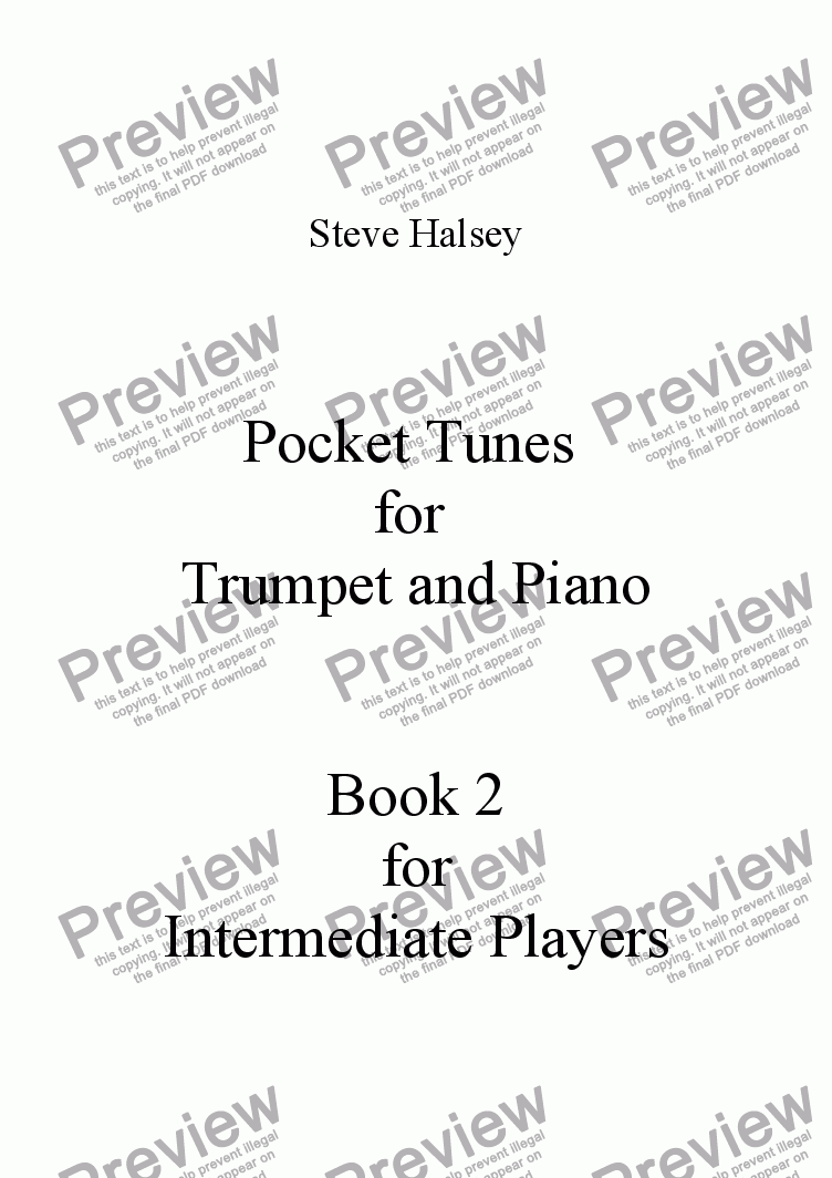 page one of Pocket Tunes 2 for Trumpet/Cornet and PianoASALTTEXT
