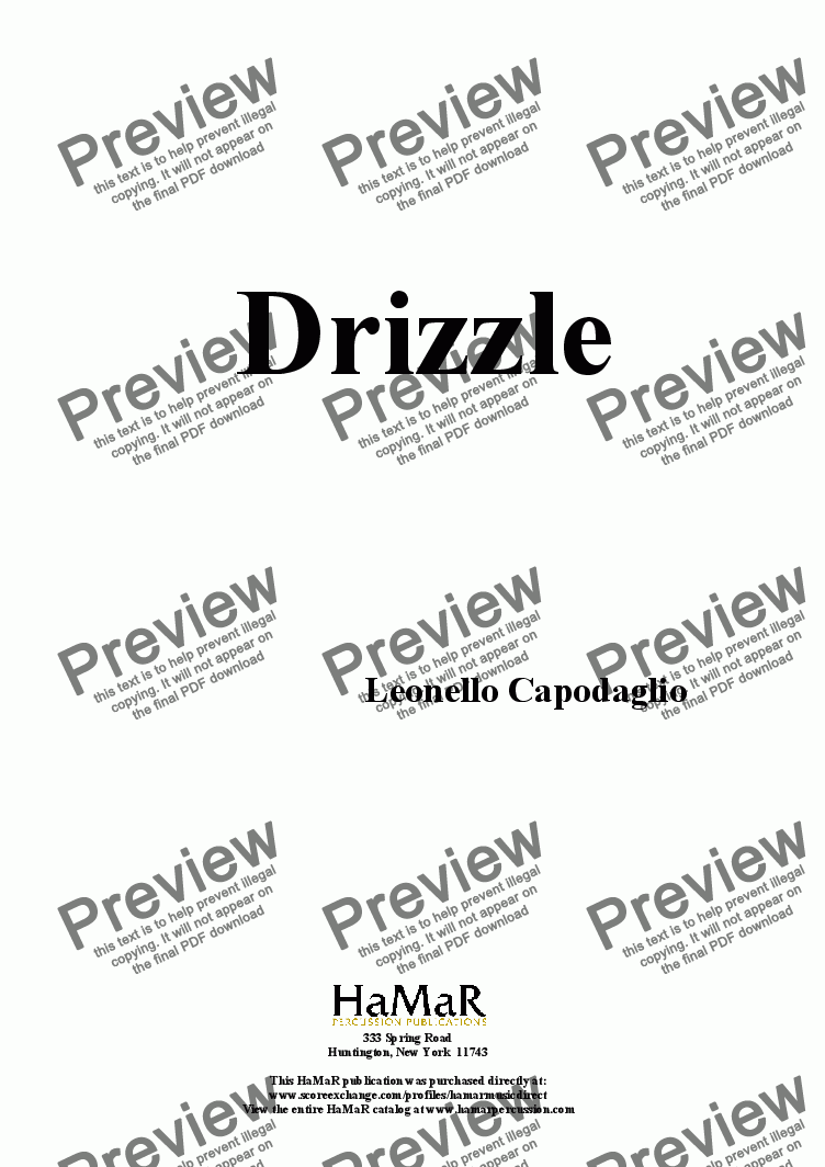 page one of Drizzle
